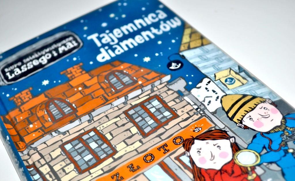 """okładka książki """"Tajemnica diamentów"""" wydawnictwo Zakamarki"""
