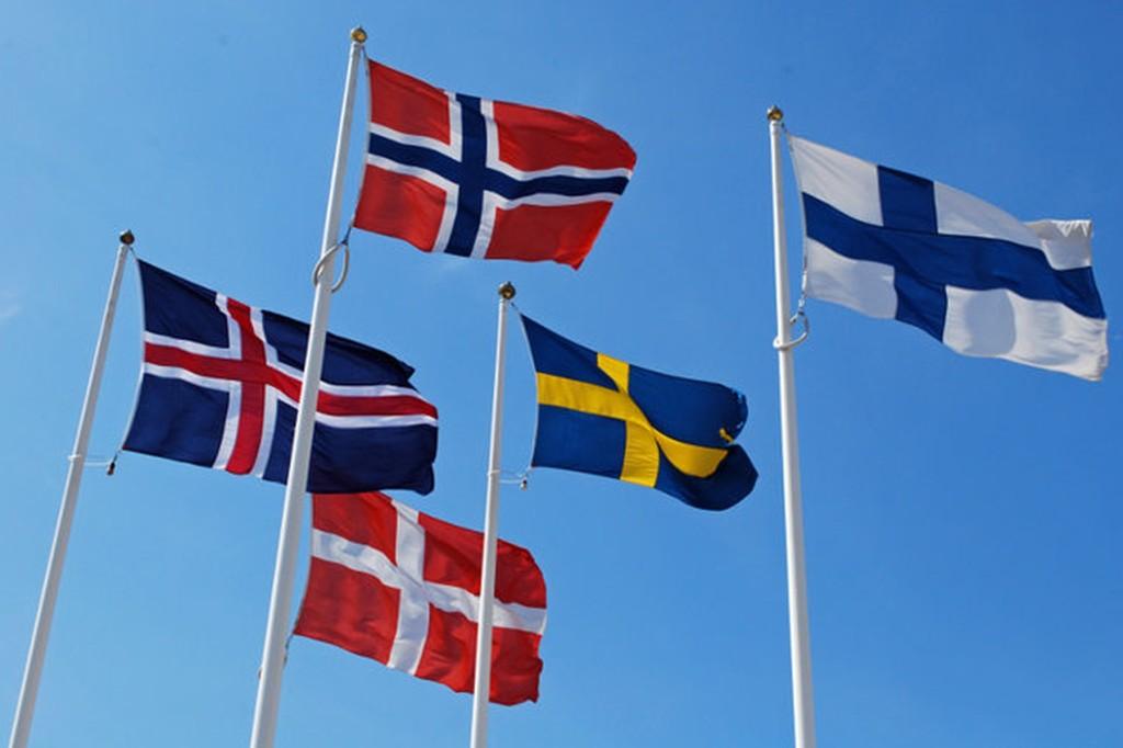 flagi krajów nordyckich