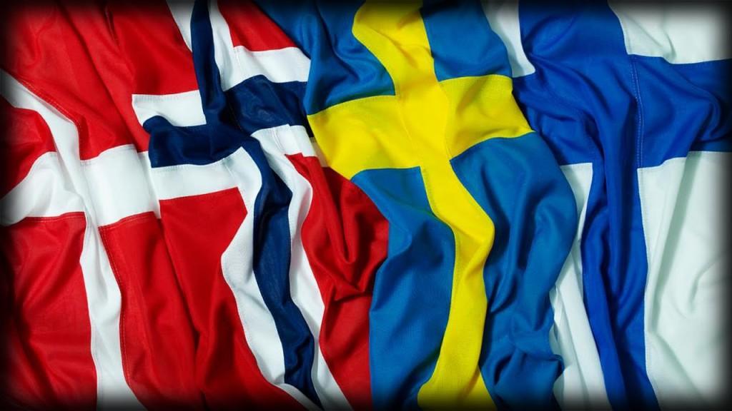 flagi krajów skandynawskich